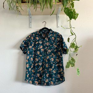 Forever 21 Men's Floral Button Down